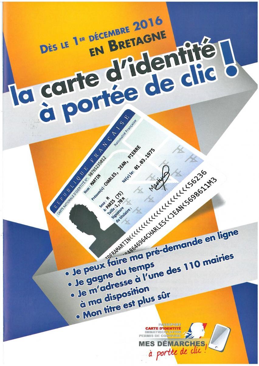 pré demande carte identité en ligne Carte d'identité, passeport, permis de conduire, carte grise